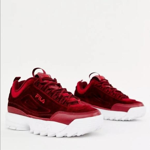 Fila Shoes | Fila Disruptor Red Velvet